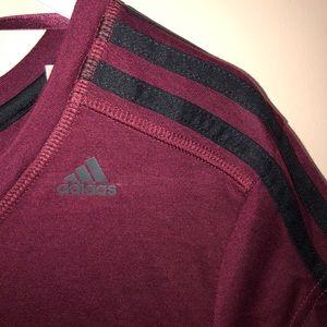 Adidas Climalite Burgundy T-Shirt
